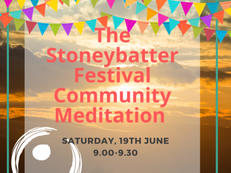 Join our Community meditation as part of the Stoneybatter Festival.